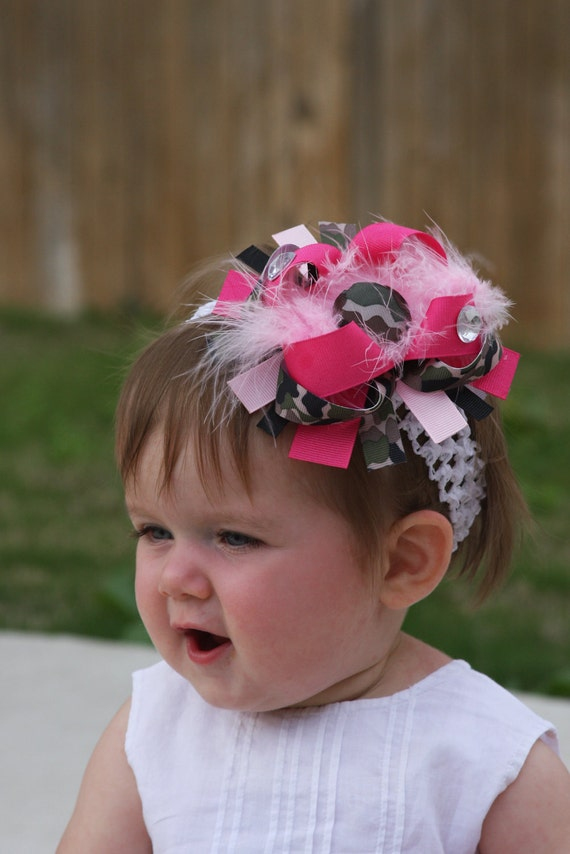 Pink And Camo... Must be Daddy's Little Girl Boutique Bow