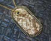 Leather Snake Print Dog Tag Necklace