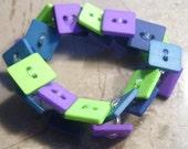 Super Square Button Bracelet