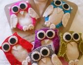 Owl Felt Pin