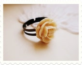Adjustable Ring with a Flower