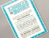 Wedding Invitation and RSVP (sample) - cirque de l'amour (Circus of Love) Collection