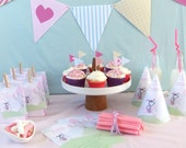 Personalised Printable Kids Party Pack - Fairytale Princess (PDF templates)