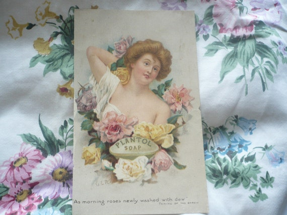 Victorian Plantol Rose Soap Advertisement