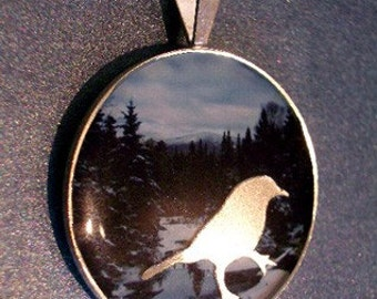 Eclipse Series MOUNTAIN SONG Pendant, Sterling Silver, Handmade, Nature