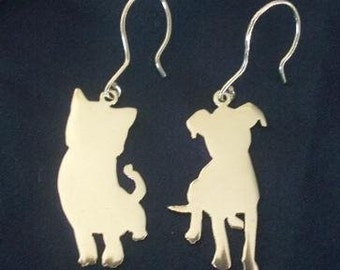 Sterling Silver 'PUPPY DOGS TAILS' Earrings