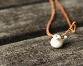 Vintage tiny bird pendant  -  bone pendant - oht rusteam europeanstreetteam - Free Worlwide Shipping
