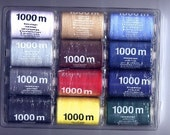 12 x 1000m OF POLYESTER SEWING MACHINE STRONG THREAD