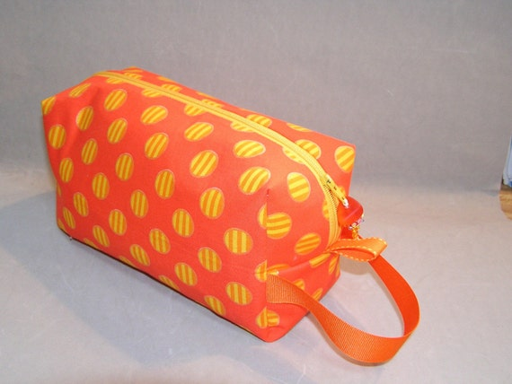 Orange Circles Mini Bag