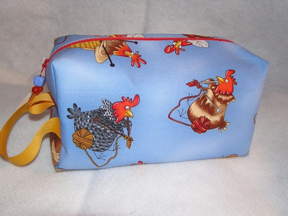 Knitting Chickens Project Bag