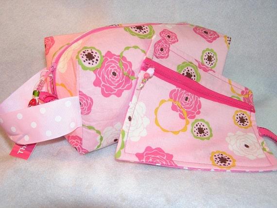 Pink Circles Project Bag Set