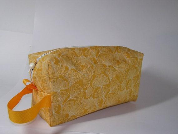 Golden Gingkos Project Bag