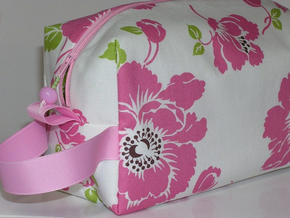 Cascading Pink Flowers Project Bag