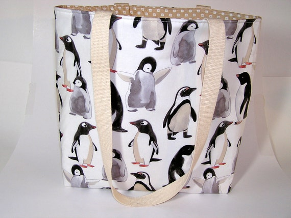 Penguin Colony Project Tote