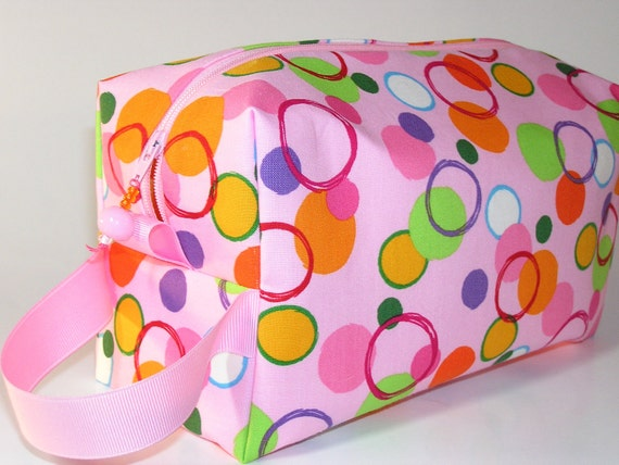 Pink Bubbles Project Bag