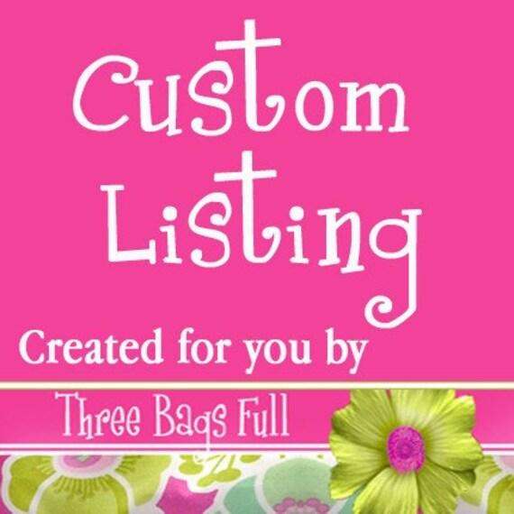 Custom listing for rsknits