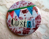 Custom collage badge/pin/button - Large