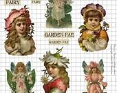 The Flower Fairies Digital Collage Sheet Victorian style flower fairy