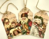 Print your own Vintage Santa gift tags this Christmas, digital file