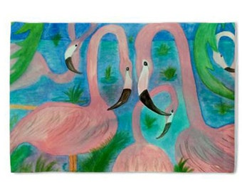 Flamingo Party Pillow Case from my original art