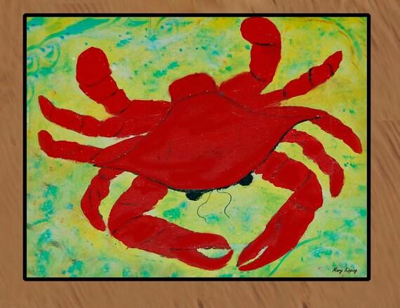 Red Crab indoor-outdoor floor mat available in 3 sizes