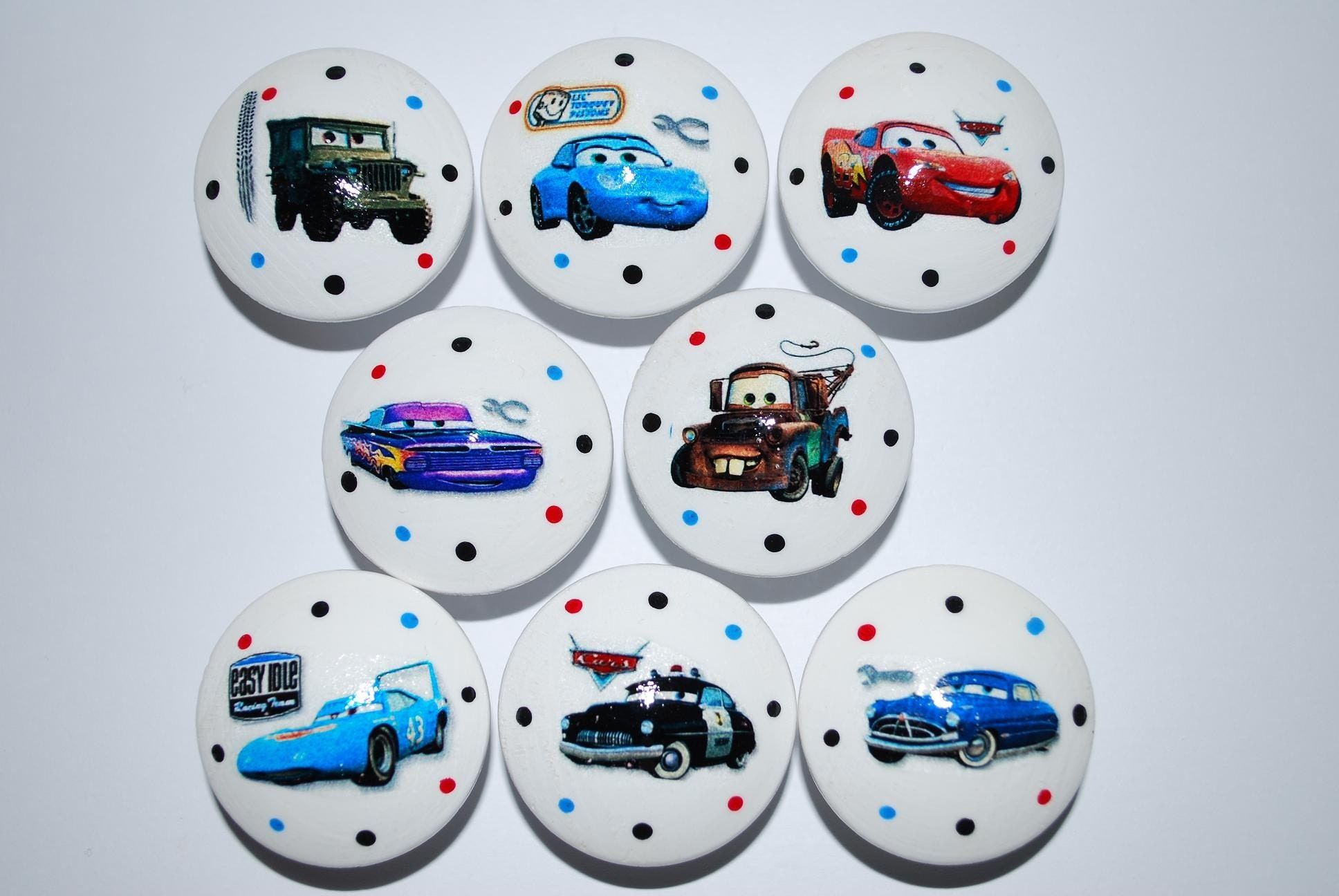 Disney Pixar Cars Knobs Kids Dresser Drawer Pulls So Cute