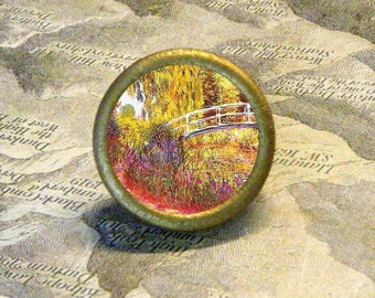 Monet GIVERNY Garden tie tack or ring