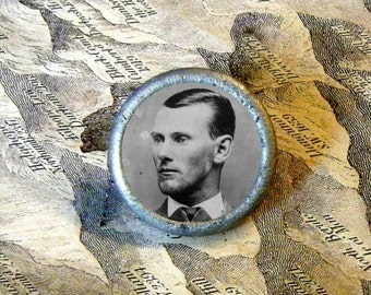 JESSE JAMES  Cowby and Outlaw TIE TACK or Ring