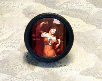MORGAN LE FAY - sorceress and Sister to King Arthur of Camelot - as TIE TACK - PIN or adjustable ring