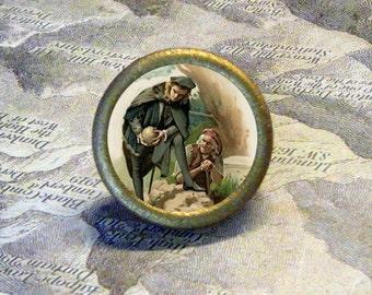prince HAMLET and ALAS - Poor YORICK - SKULL -- Shakespeare - as TIE TACK - PIN