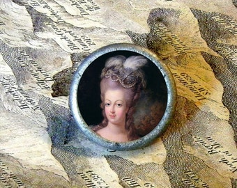 MARIE ANTOINETTE - French Queen - TIE TACK - PIN or adjustable ring