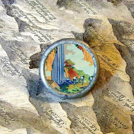 Hiroshige - WATERFALL Tie Tack or ring
