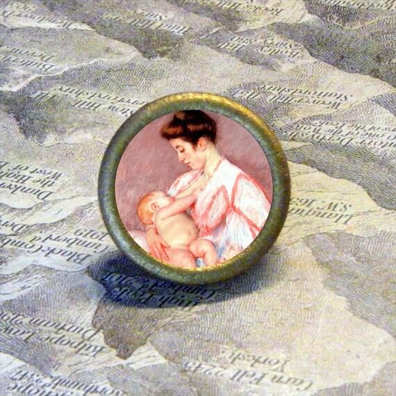 NURSING MOTHER by Mary Cassatt TIE TACK - PIN or ring
