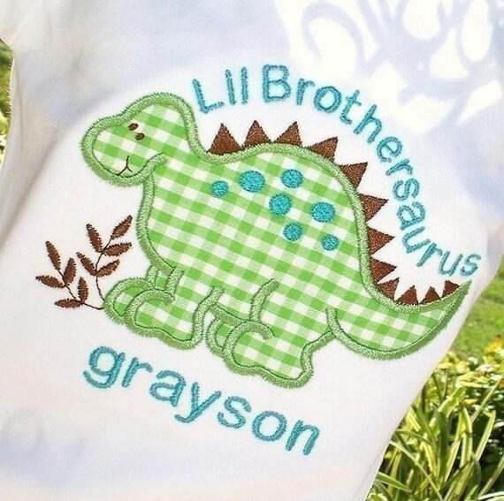 Boys Personalized Dinosaur Sibling Set