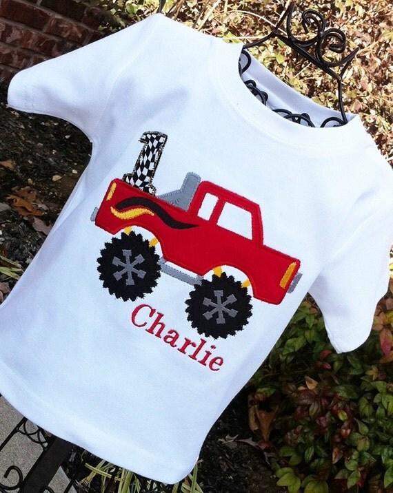 Monster Truck Shirt, Truck Birthday, Boys Monster Truck,  Monster Truck Birthday, Boys Trucks,Toddler Truck Shirt
