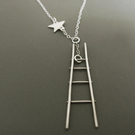 How to catch a star - sterling silver ladder and tiny star