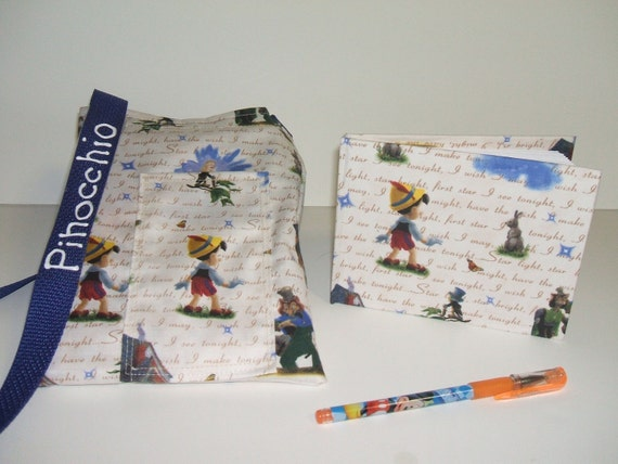 Disney Pinocchio autograph book bag adjustable with pen and book PERSONALIZED for FREE Adjustable starp
