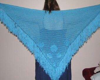 Soft and Warm Teal Wrap/Shawl