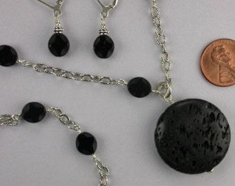 Lava Rock Necklace Set
