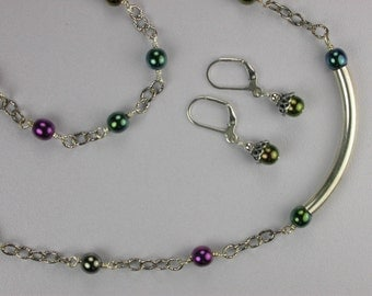 Mardi Gras Necklace Set