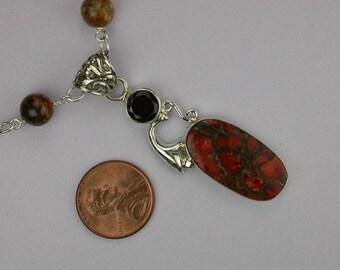 Copper Turquoise Necklace Set