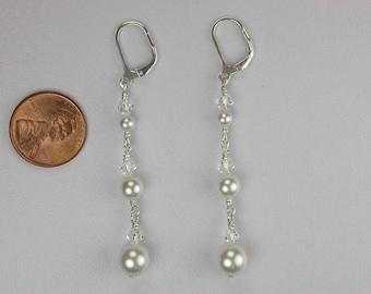 Elegant Swarovski Pearl Earrings