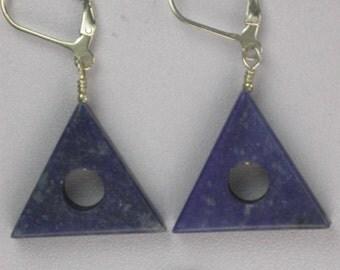 Lapis Lazuli Triangles Earrings
