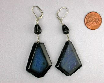 Blue Agate Earrings