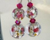 Sweet Rosemarie in Pink - Earrings