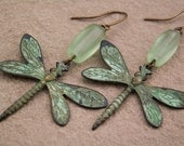 Copper Dragonfly Earrings