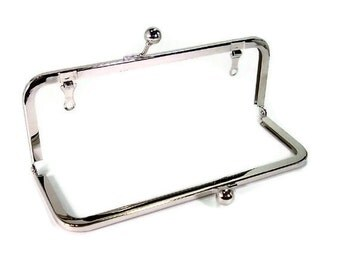 8x3 Nickel Purse Frame with Drop Down Loops  FREE US SHIPPING