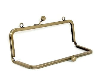 8x3 Antique Brass Purse Frame With Loops  FREE U.S. SHIPPING