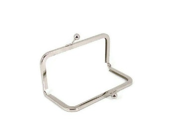 6 x 2.5 Nickel Purse Frame  FREE US SHIPPING