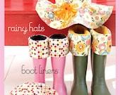 Sweet Seams Rainy Hats and Boot Liners Rainy Day Fun free shipping
